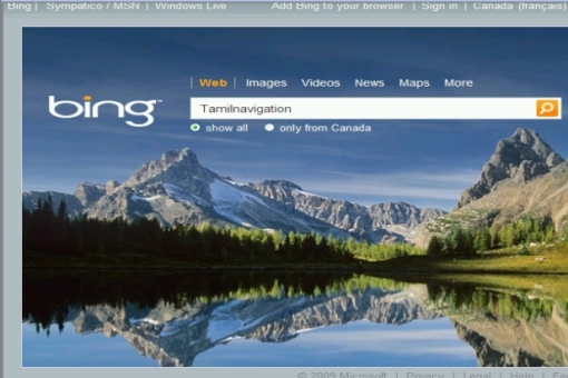 """புதிய Search தளம் """"Bing"""""""